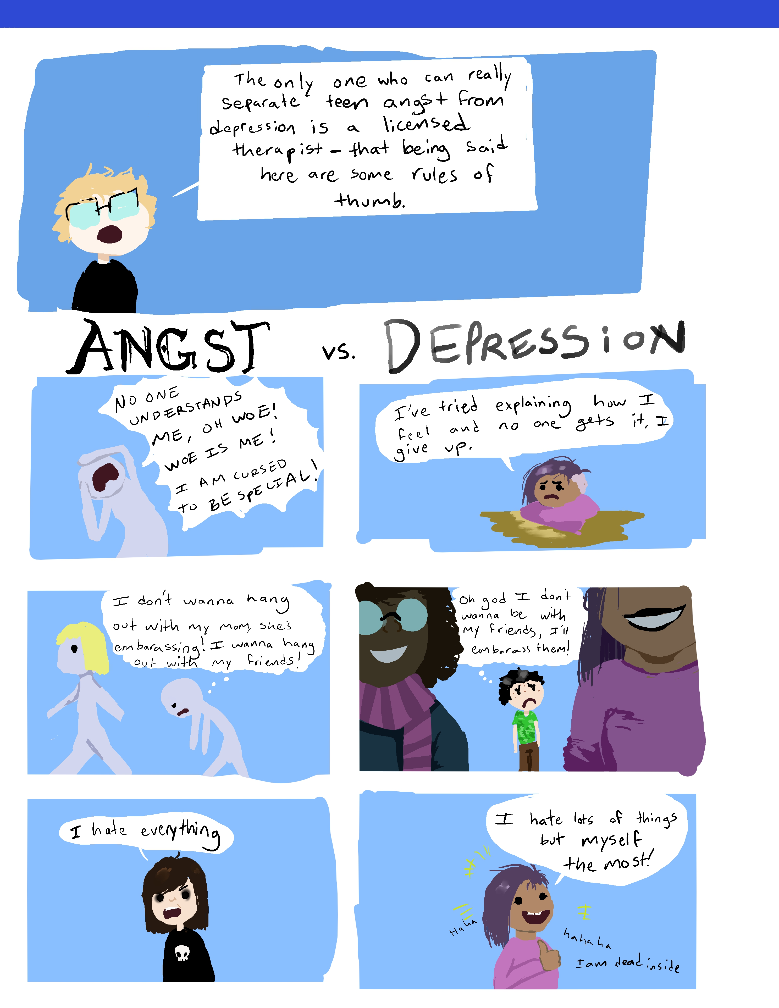 Angst vs. Depression 2: They're back and this time it's confusing